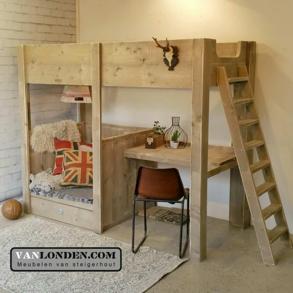 Hoogslapers voor volwassenen mezzanine bed hoogslaper voor volwassenen bouwinfo - Bed kind met mezzanine kantoor ...