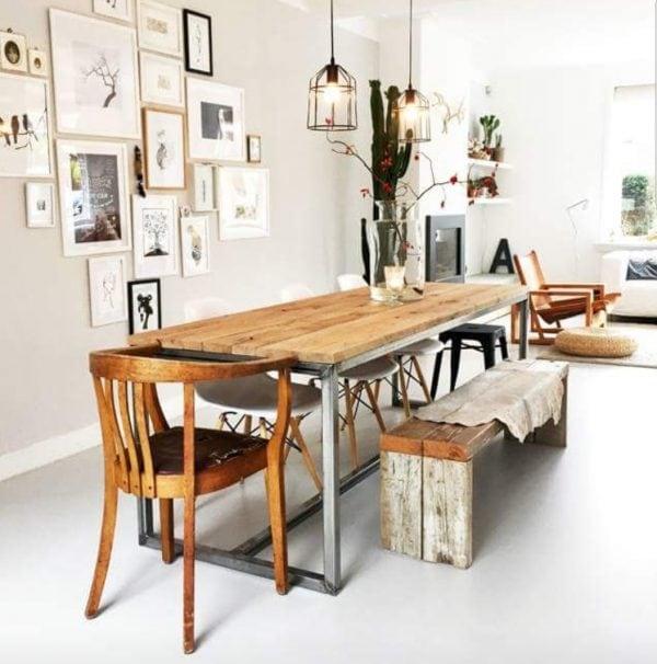 Bankje van oude balken Kate (Steigerhouten side tables kopen)