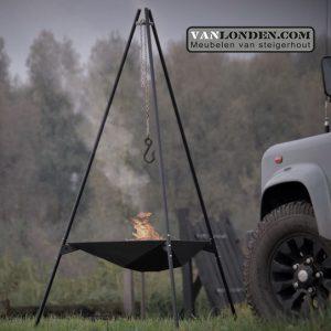 Basale Vuurdrager Black (Steigerhouten meubelen voor outdoor)