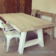 Steigerhouten tafel Dylan (Steigerhouten eettafels online bestellen)