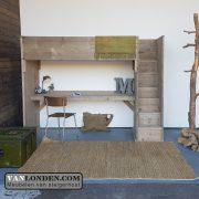 Steigerhouten hoogslaper met bureau Lindsey (Steigerhouten bureaus op maat gemaakt)