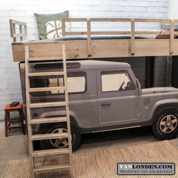 Steigerhouten Landrover bed (Steigerhouten kinderbedden online bestellen)
