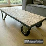 Industriële vintage salontafel (Vintage industriële meubelen)