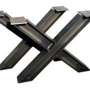 Tafel onderstel stalen kruis H balk Nathan (Steigerhouten eettafels online bestellen)