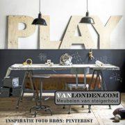 Letters van underlayment (Steigerhouten accessoires online bestellen)