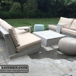 Loungebank (set) Lente (Steigerhouten lounge banken)