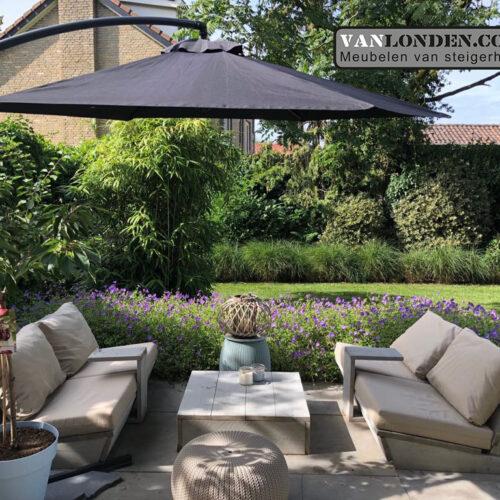 Loungebank (set) Lente (Steigerhouten loungebanken)