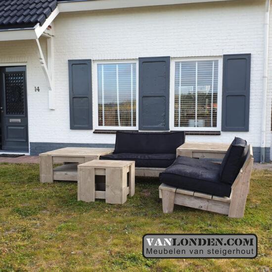 Loungebank (set) Summer (Steigerhouten loungebanken)