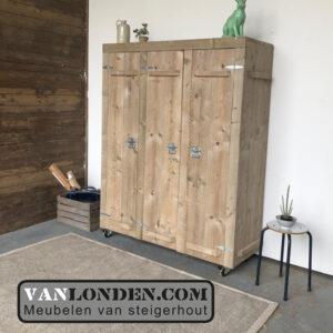 Steigerhouten kledingkast Keet (Steigerhouten kledingkasten online bestellen)
