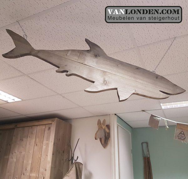 Steigerhouten Haai (Steigerhouten dieren accessoires kopen)