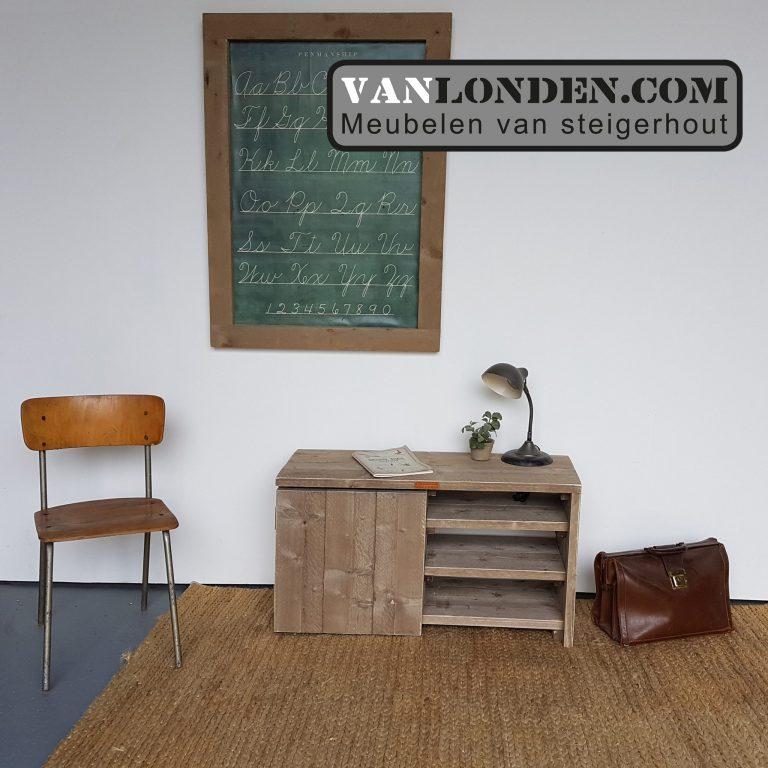 Steigerhouten tv-kastje Lianne (Steigerhouten TV-meubels op maat)