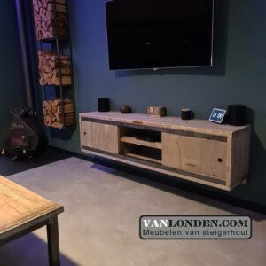 Steigerhouten TV-meubel Leonore (Steigerhouten TV-meubels op maat)