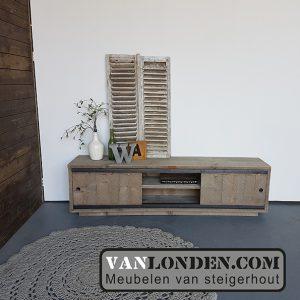Steigerhouten TV-meubel Lisanne (Steigerhouten TV-meubels op maat)