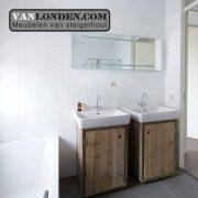 Steigerhouten badkamermeubel Roos (Diverse steigerhouten kasten bestellen)