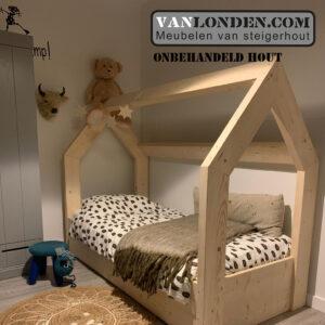 Steigerhouten bed met lade muis (Steigerhouten kinderbedden online bestellen)