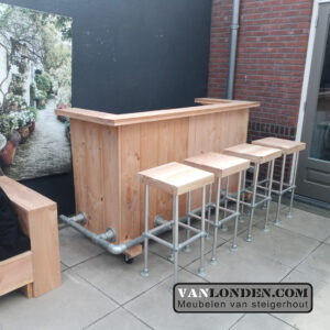 Buitenbar van Douglashout Andy (Steigerhouten tafels online bestellen)