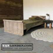 Steigerhouten bed Pim (Steigerhouten eenpersoonsbedden bestel je online bij VanLonden)