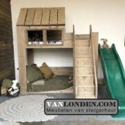 Steigerhouten huisjesbed Danae (Steigerhouten kinderbedden online bestellen)
