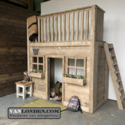 Steigerhouten huisjesbed New Orleans (Steigerhouten kinderbedden online bestellen)