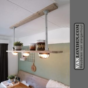 Steigerhouten hanglamp stellage Maike (Diverse lampen online bestellen in onze webshop)