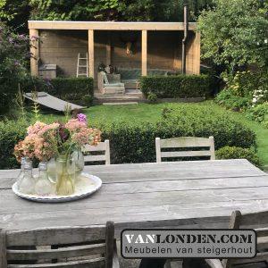 Steigerhout overkapping Arjen (Onze splinternieuwe meubelen op een rij)