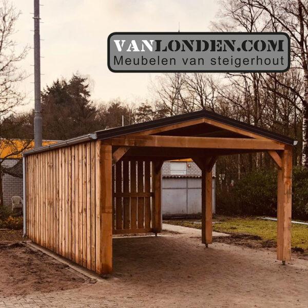 Steigerhouten overkapping carport Doug (Steigerhouten overkappingen bestellen)