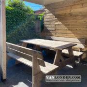 Steigerhouten picknicktafel Maxime (Steigerhouten eettafels online bestellen)
