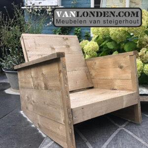 Steigerhouten schommelstoel Twan (Steigerhouten stoelen online bestellen)