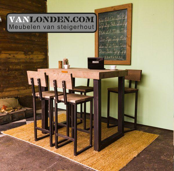 Industriële tafel Kjeld (Steigerhouten eettafels online bestellen)