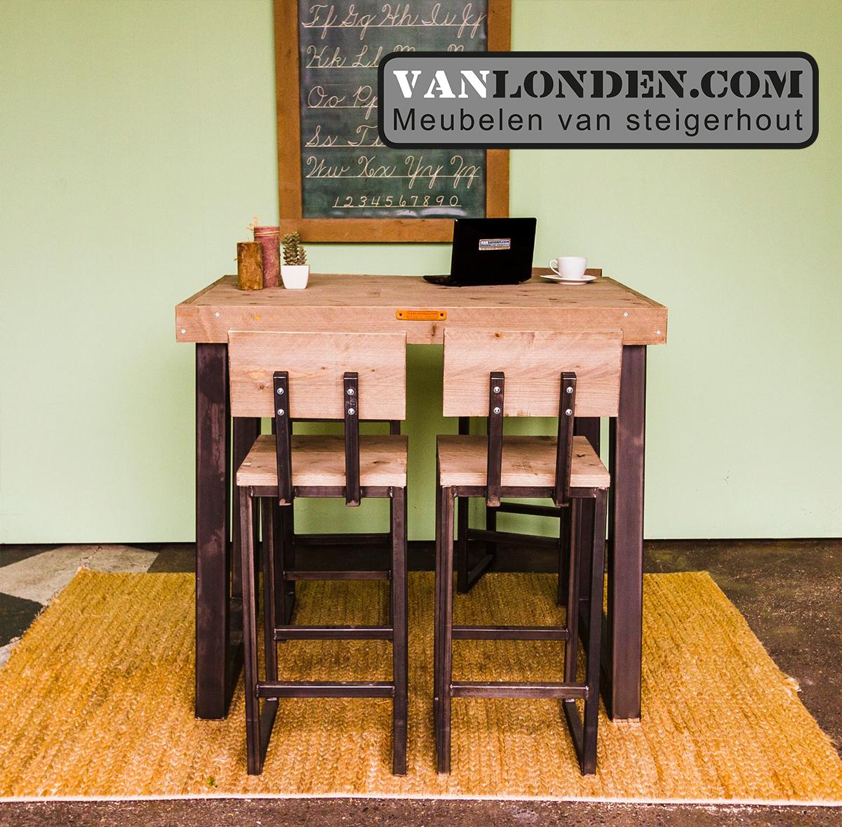 Industriële tafel Kjeld VanLonden Steigerhout