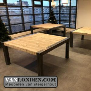Steigerhouten tafels metalen poot Yonego
