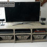 Steigerhouten TV-meubel Laura (Steigerhouten TV-meubels op maat)