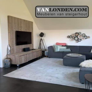 Steigerhouten tv-meubel met wand Josien (Steigerhouten TV-meubels op maat)