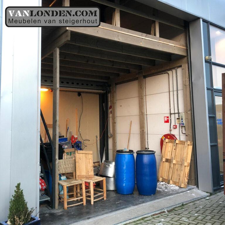Verdiepingsvloer loods (Steigerhouten overkappingen bestellen)
