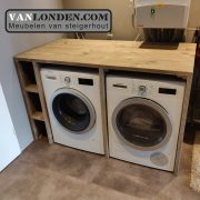 Steigerhouten wasmachine ombouw Mieke (Opbergmeubels online bestellen)