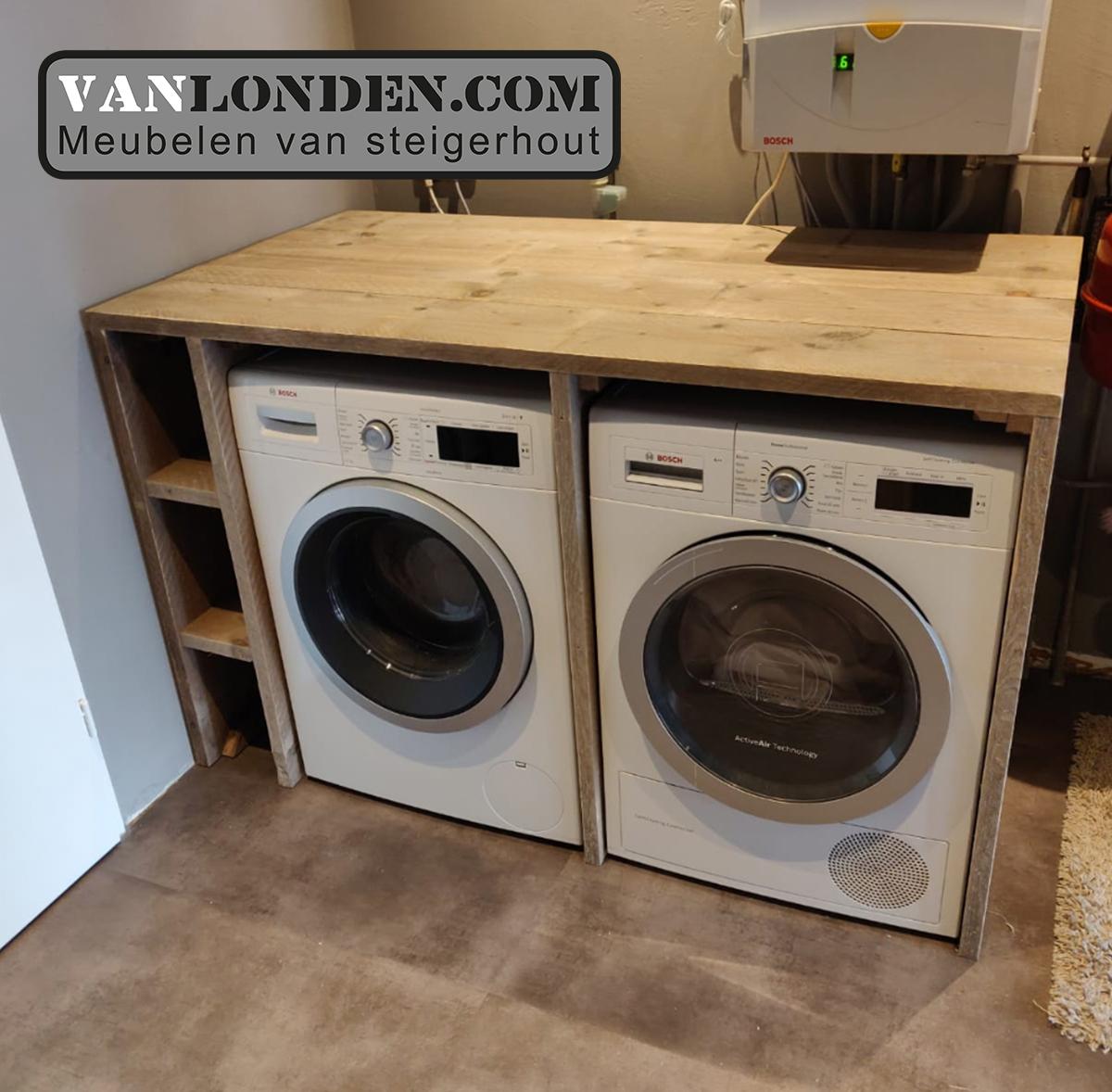 Steigerhouten Wasmachine Ombouw Mieke