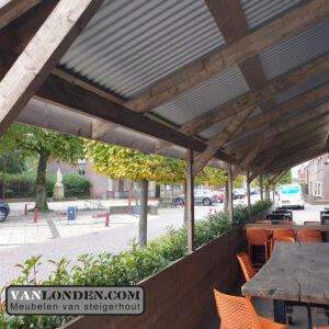 Tijdelijke overkapping Korenbeurs made terras buiten