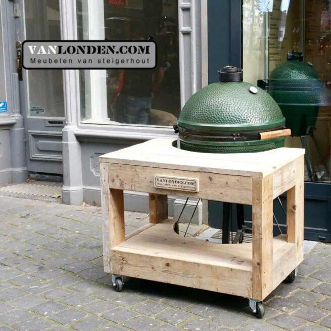 Big Green Egg ombouw van steigerhout Gwen (Big Green Egg online bestellen)