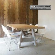 Eettafel Bastiaan van oude bowlingbaan (Steigerhouten eettafels online bestellen)