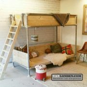 Steigerhouten buisbed Donna met-relaxplateau (Steigerhouten kinderbedden online bestellen)