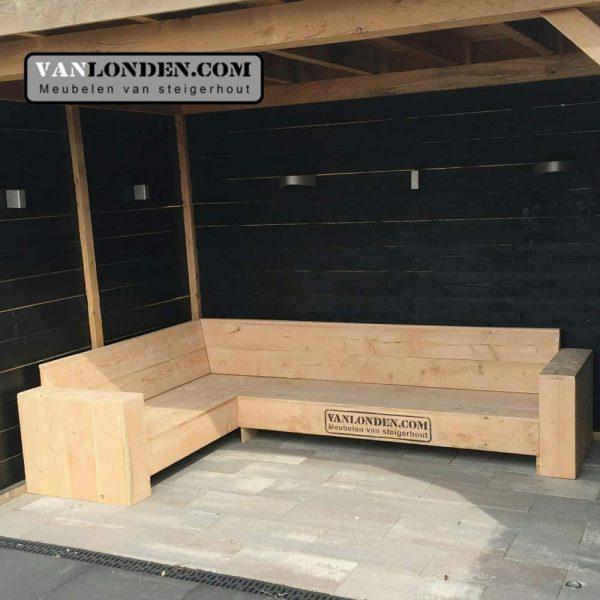 Douglas houten hoekbank Dimitri (Steigerhouten zitmeubelen online bestellen)
