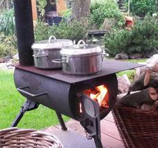 Draagbare mini houtkachel (Steigerhouten meubelen voor outdoor)