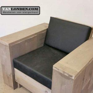 Steigerhouten fusion fauteuil Fenna (Steigerhouten stoelen online bestellen)