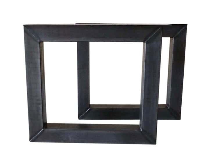 Tafel onderstel stalen model vierkant Mila (Steigerhouten eettafels online bestellen)
