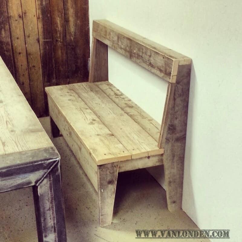 Actieve zitbank van steigerhout Ines (Actieve steigerhouten zitbanken bestellen)
