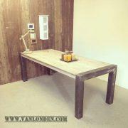 Steigerhouten tafel Jeanne (Steigerhouten eettafels online bestellen)