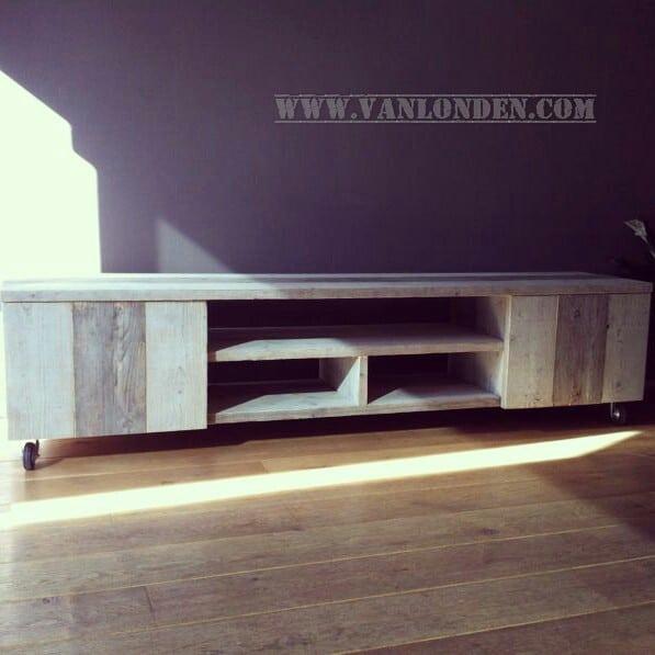 Steigerhouten tv-meubel Jip (Steigerhouten TV-meubels op maat)