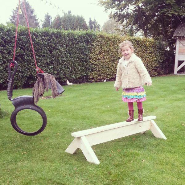Steigerhouten evenwichtsbalk Eveline (Steigerhouten accessoires online bestellen)
