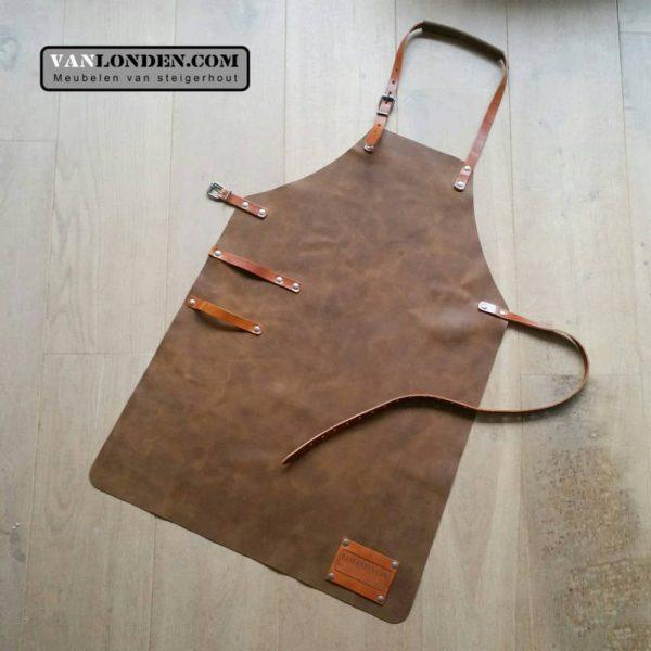 Leren schort (Steigerhouten accessoires online bestellen)