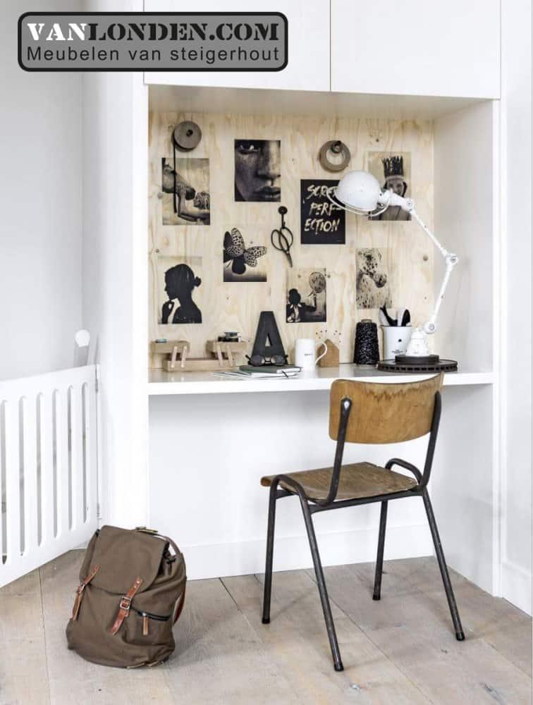 Oude kazerne stoel Josha (Steigerhouten stoelen online bestellen)